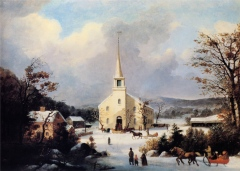 George_Henry_Durrie_-_Going_to_Church