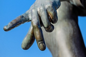 hand-sky-monument-swim-statue-finger-symbol-gesture-blue-close-up-sculpture-art-bronze-characters-kaiserstuhl-bocce-486083