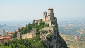 San Marino Castle Fortress Rock